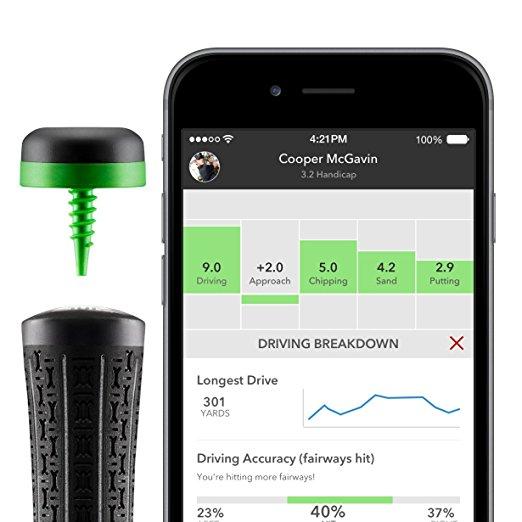 An Arccos sensor with the iPhone app.