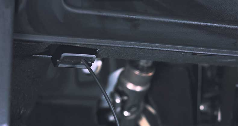 Navdy gets data from your vehicle's OBD-II port.