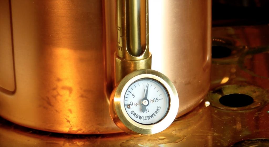uKeg pressure gauge and beer measure
