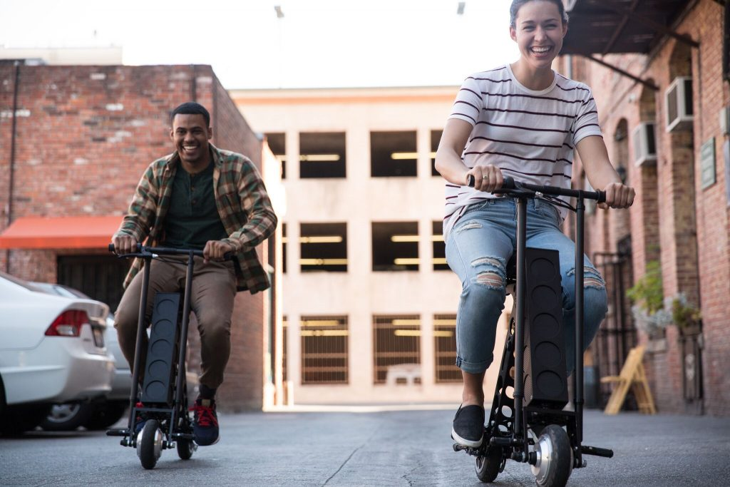 The URB-E e scooter is perfectly designed for a fun ride.